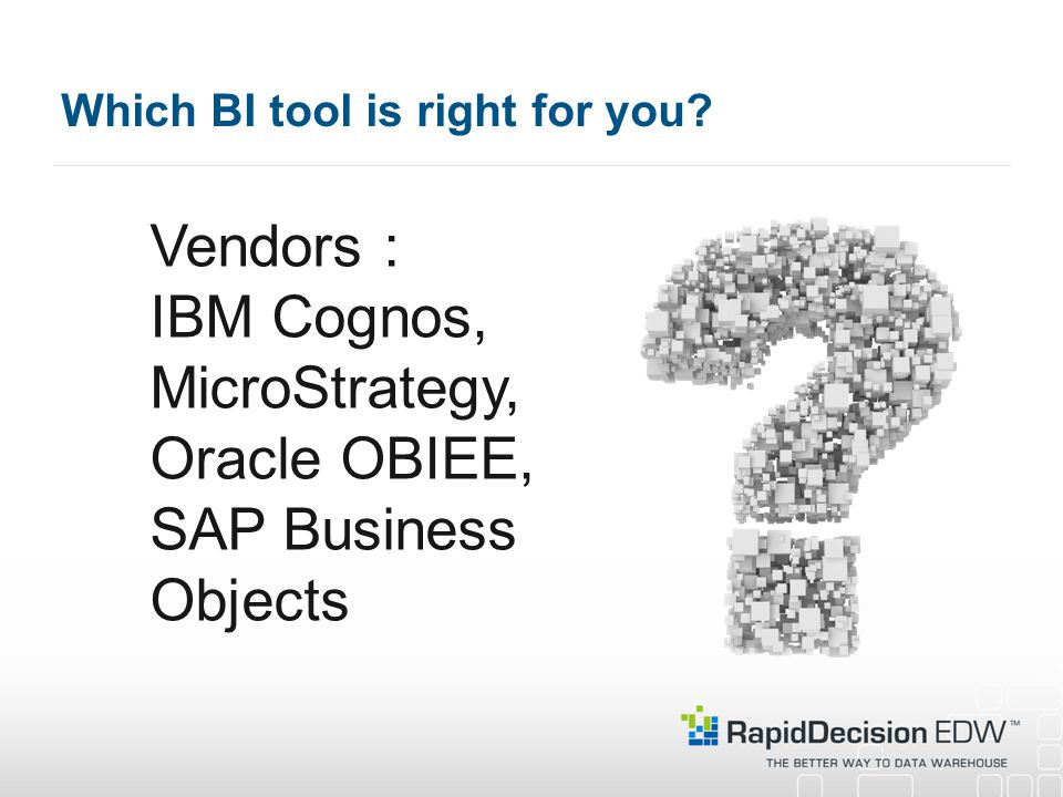 Which BI tool is right for you.