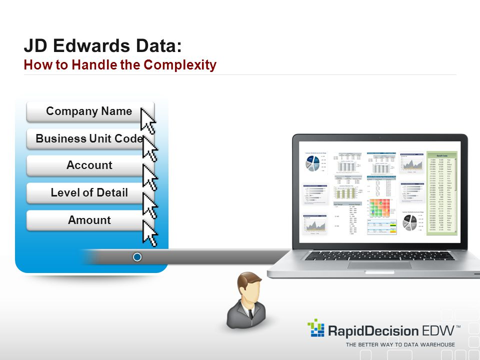 JD Edwards Data: How to Handle the Complexity AmountLevel of DetailAccountBusiness Unit Code Company Name
