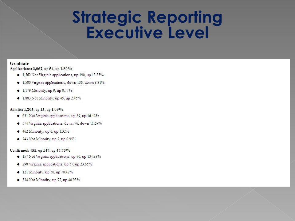 Strategic Reporting Executive Level