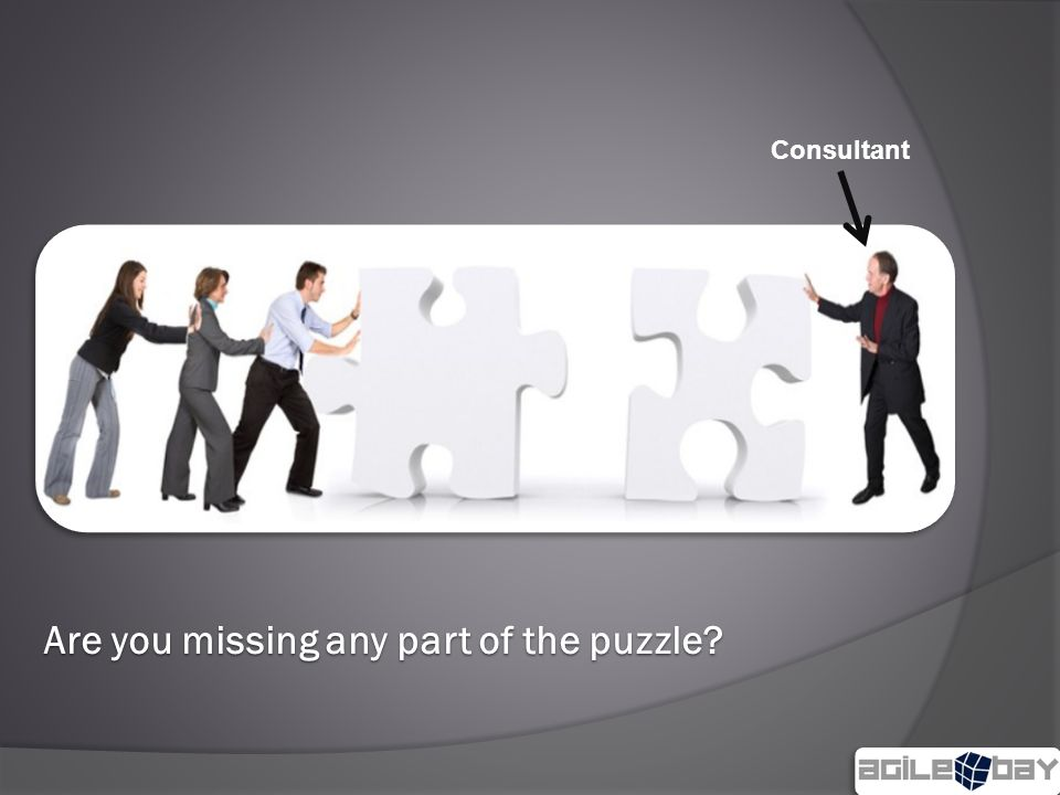 Are you missing any part of the puzzle Consultant