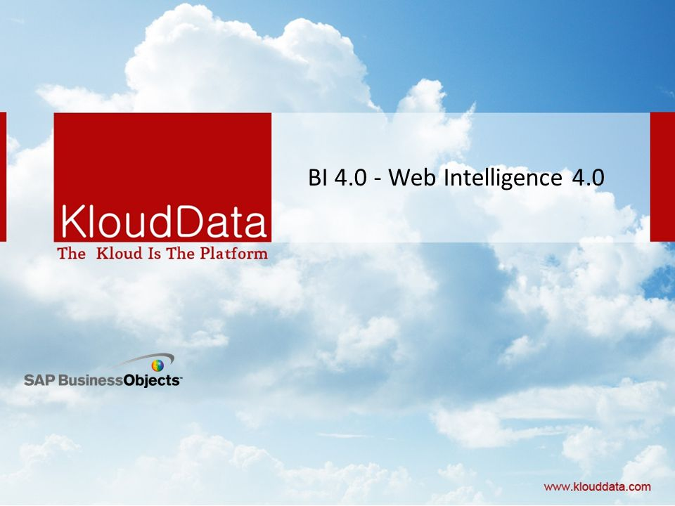 BI Web Intelligence 4.0