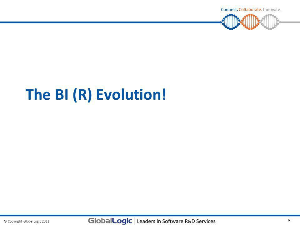 © Copyright GlobalLogic 2011 5 Connect. Collaborate. Innovate. The BI (R) Evolution!