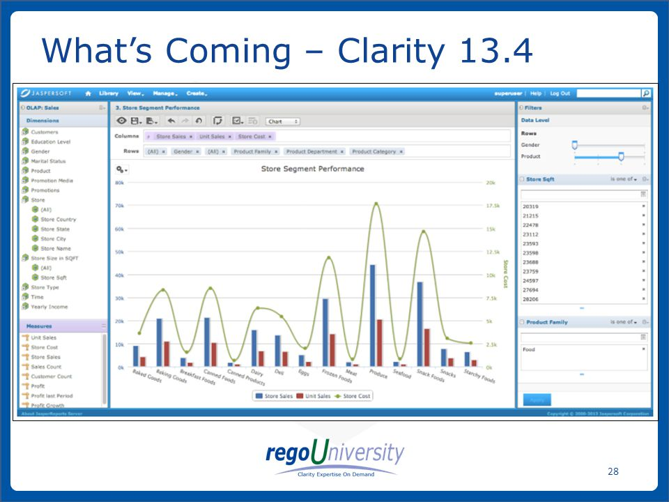 www.regoconsulting.comPhone: 1-888-813-0444 28 What's Coming – Clarity 13.4