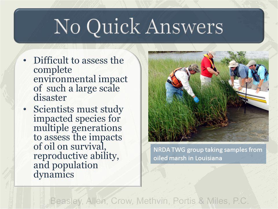 NRDA TWG group taking samples from oiled marsh in Louisiana