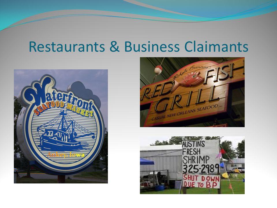 Restaurants & Business Claimants Ankey, Iowa