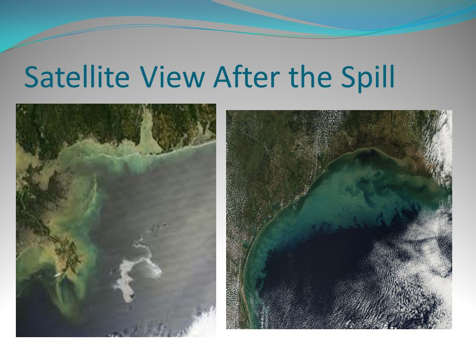 Satellite View After the Spill