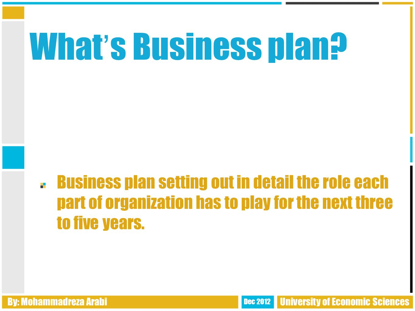 Executive summery It ' s primary purpose is to excite and inspire an audience to want to read the rest of the business plan.