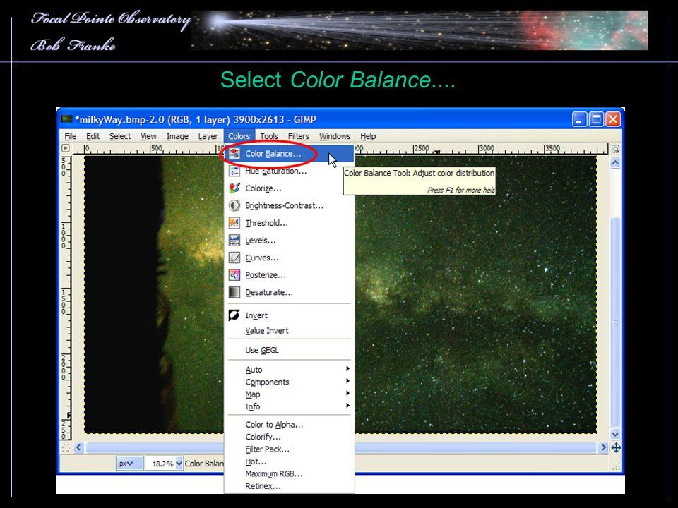 Select Color Balance....