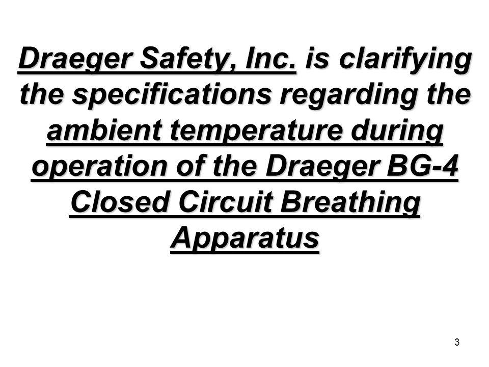 3 Draeger Safety, Inc.