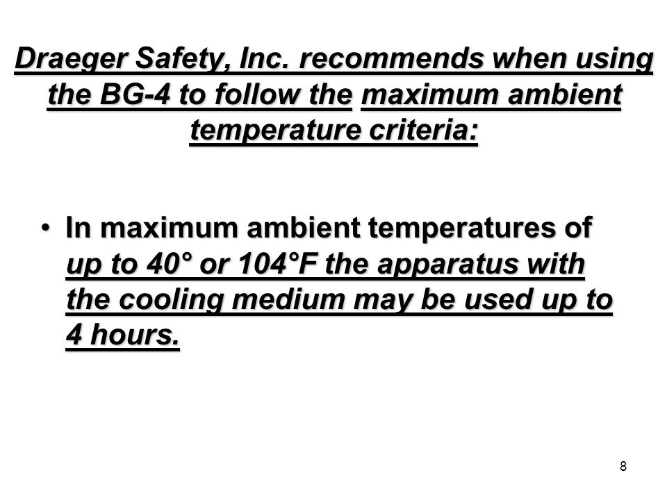 8 Draeger Safety, Inc.