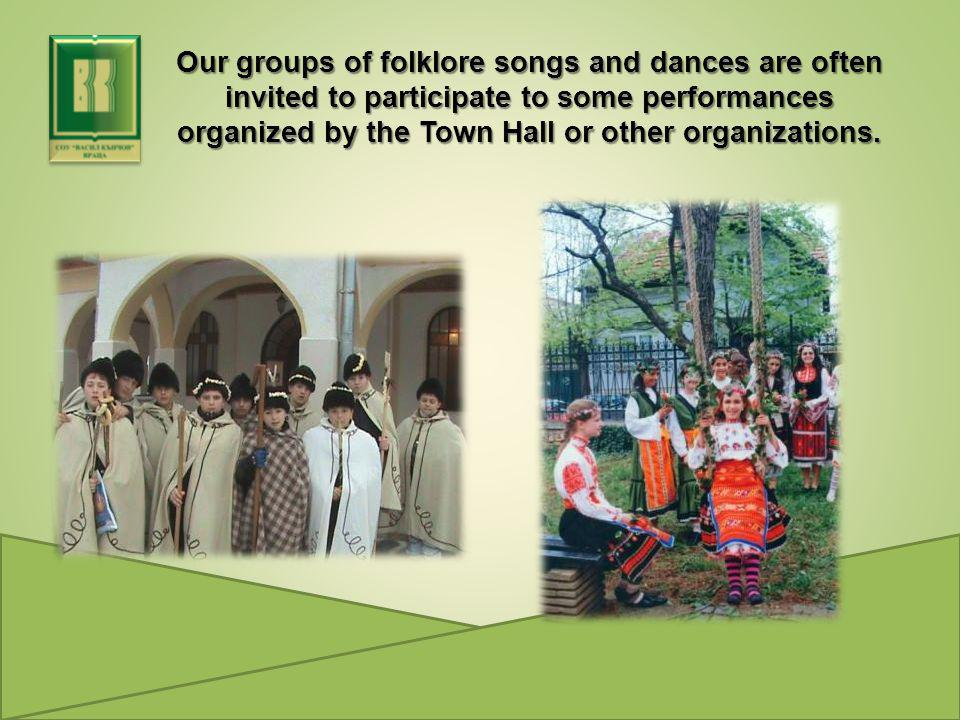 Our groups of folklore songs and dances are often invited to participate to some performances organized by the Town Hall or other organizations.