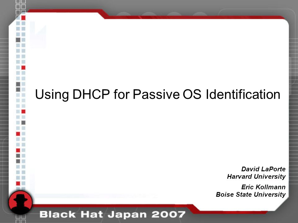 Mitigation Strategies Modify default DHCP client Keep IP segments as small as is reasonable –/24 segment = 254 hosts –/20 segment = 4094 hosts