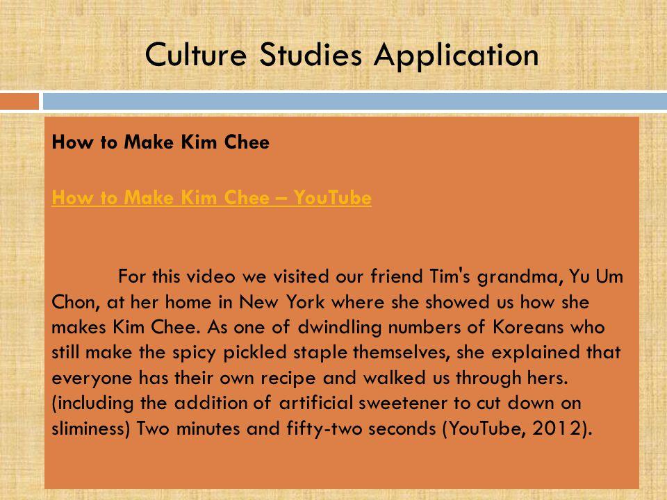 Culture Studies Application