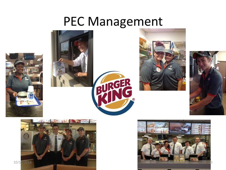 PEC Management 10/11/20145