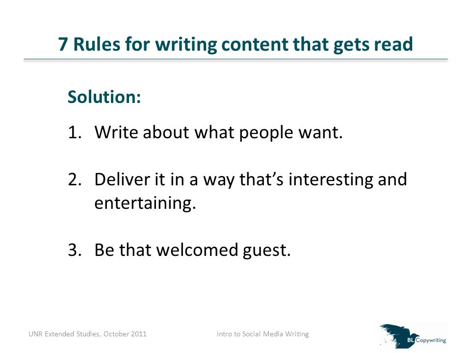 Top 3 Email Mistakes UNR Extended Studies, October 2011Intro to Social Media Writing Mistake #3: Giving them the X