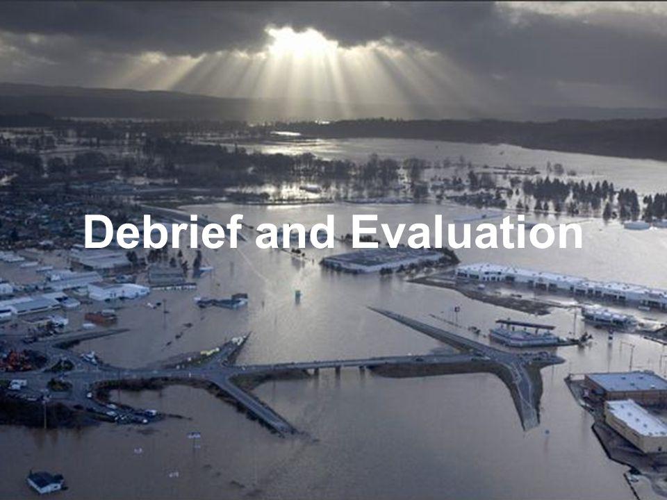 Debrief and Evaluation