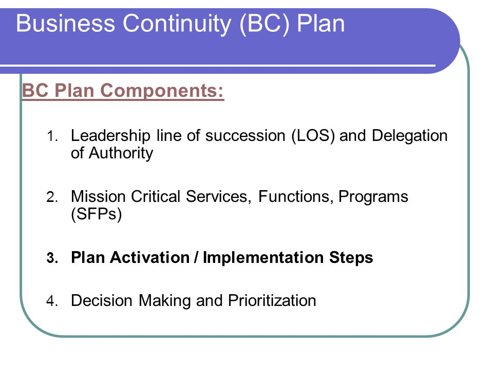 BC Exercise Objectives 1.