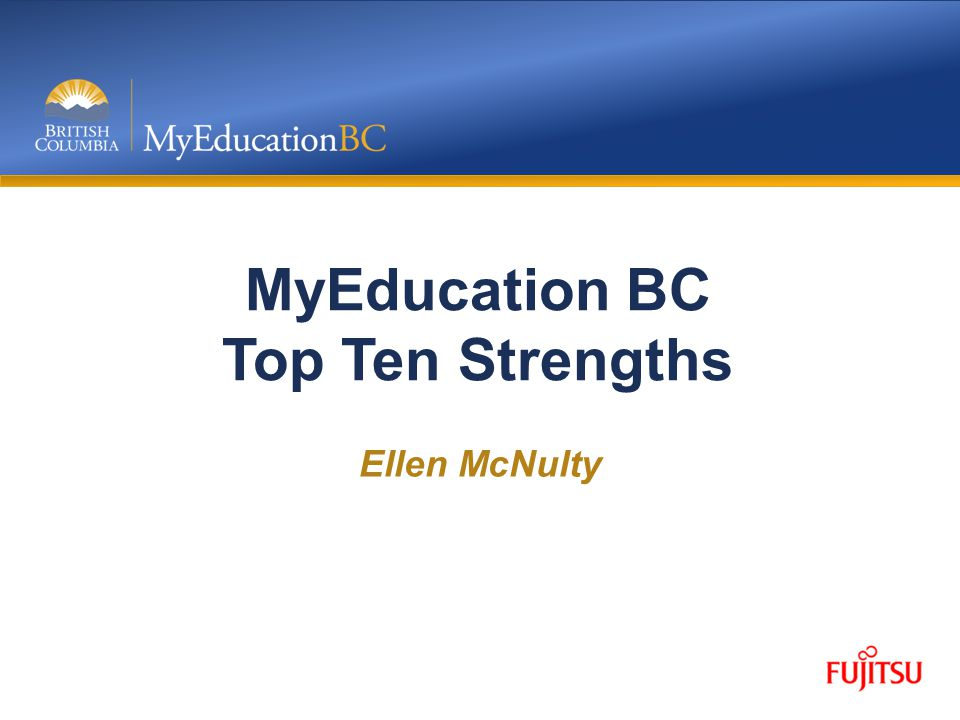MyEducation BC Top Ten Strengths Ellen McNulty