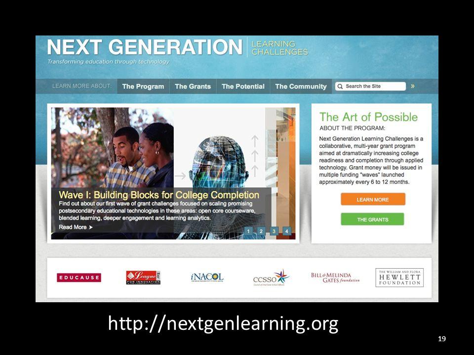 19 http://nextgenlearning.org