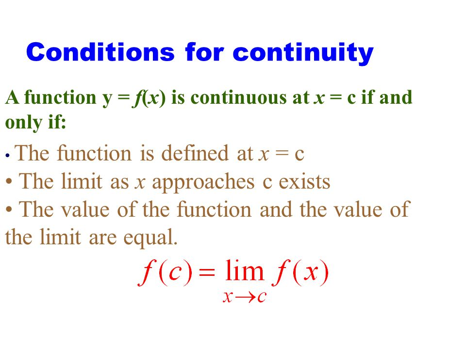 Figure 1.50: The function in (a) is continuous at x = 0; the functions in (b) through ( f ) are not. 2.5 Continuity in (a) at x = 0 but not in other g