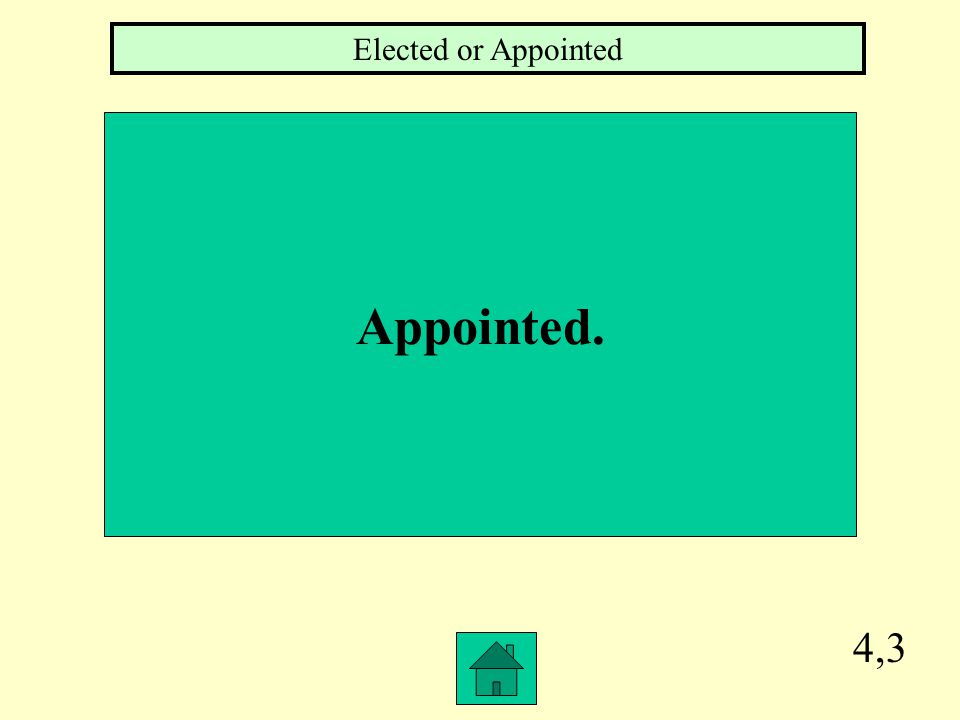 4,3 Appointed. Elected or Appointed