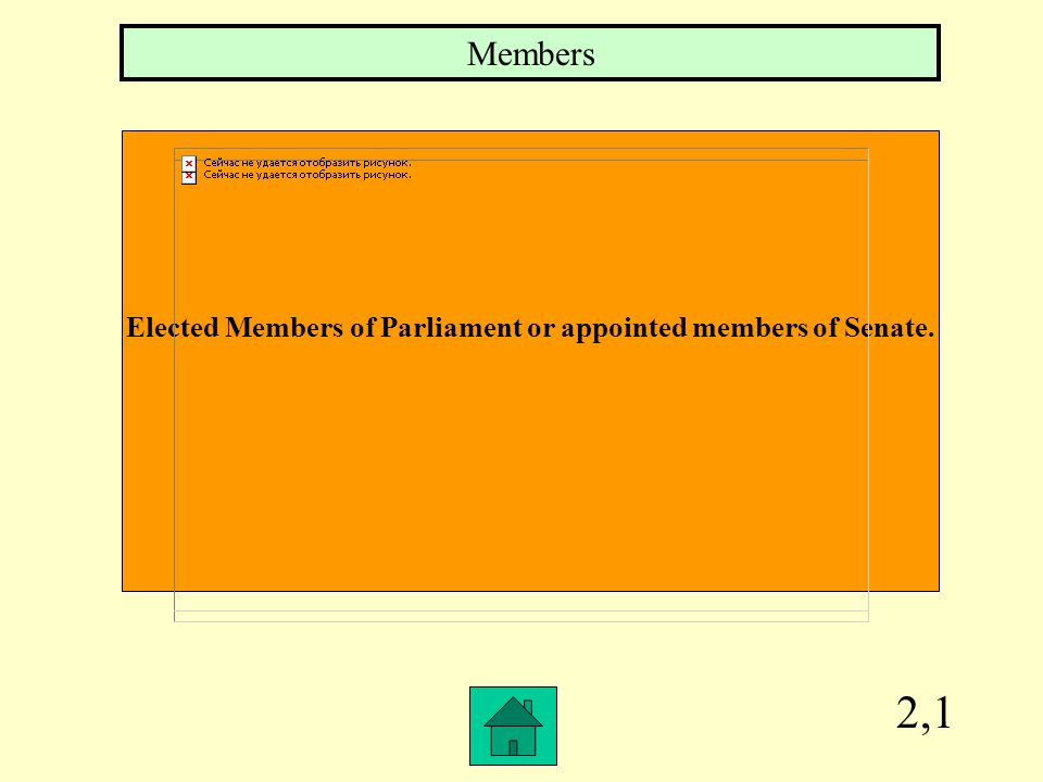 2,1 Elected Members of Parliament or appointed members of Senate. Members
