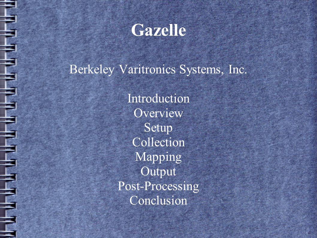 Introduction Gazelle is an advanced CW receiver system for data collection and processing Collect data from up to 4 high speed receivers All-in-one system includes system configuration, data collection, data formatting, and post-processing.