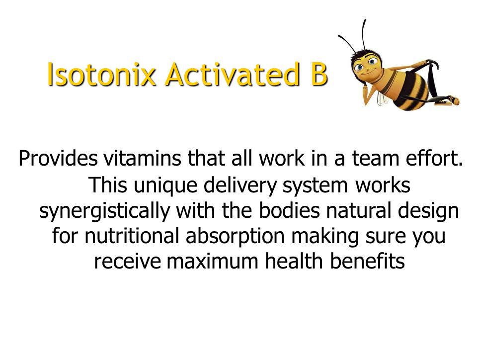 Provides vitamins that all work in a team effort.
