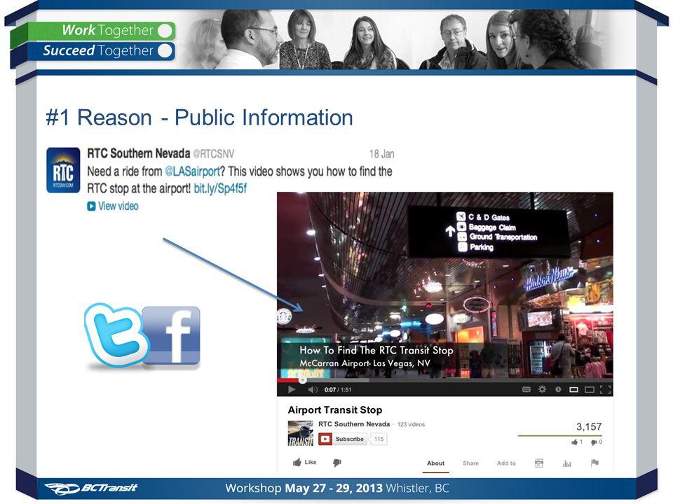 #1 Reason - Public Information