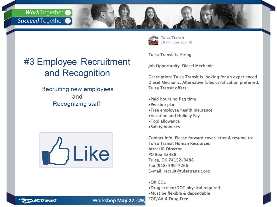 #3 Employee Recruitment and Recognition Recruiting new employees and Recognizing staff.