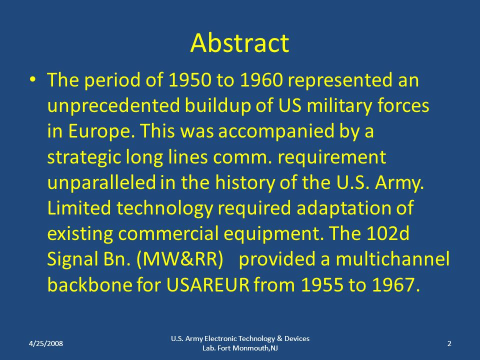 Abstract The period of 1950 to 1960 represented an unprecedented buildup of US military forces in Europe. This was accompanied by a strategic long lin