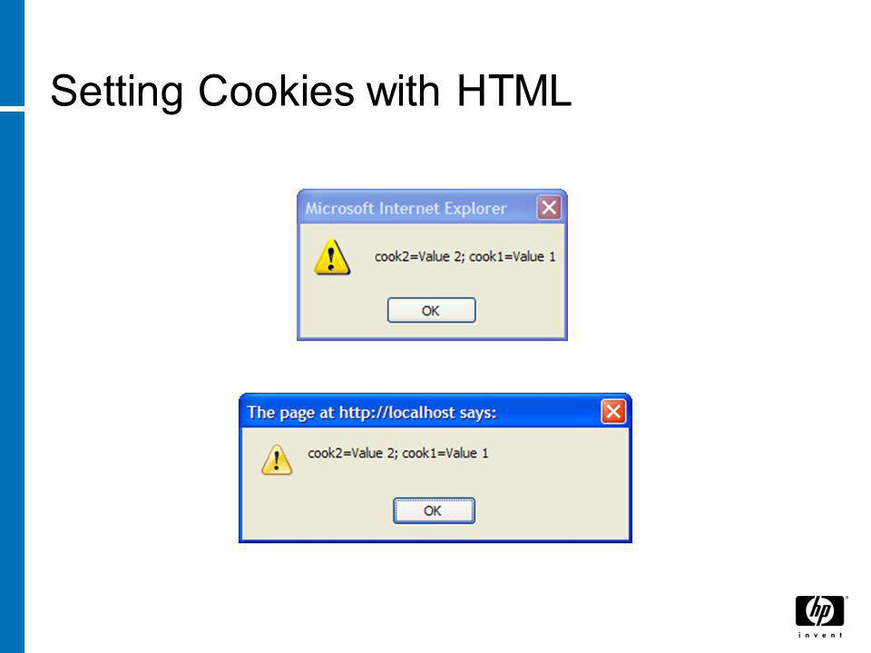Setting Cookies with HTML