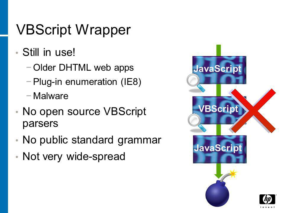 VBScript Wrapper Still in use.