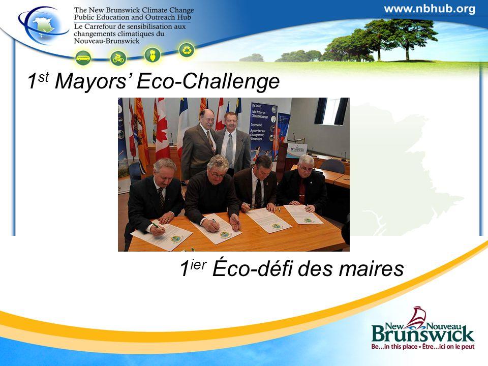 1 st Mayors' Eco-Challenge 1 ier Éco-défi des maires