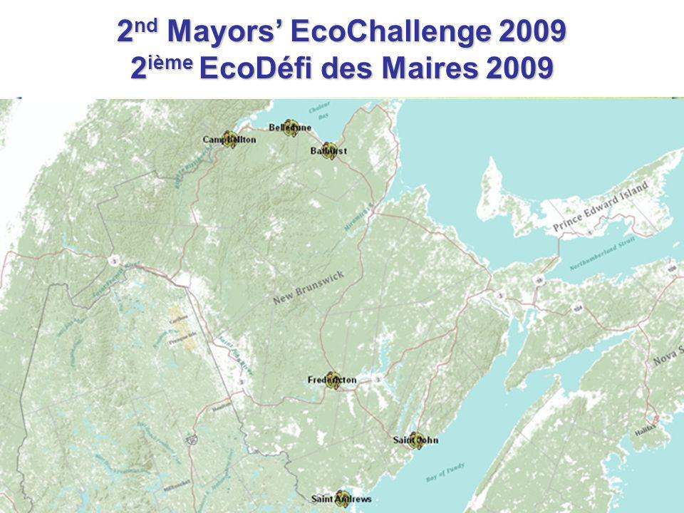 2 nd Mayors' EcoChallenge 2009 2 ième EcoDéfi des Maires 2009