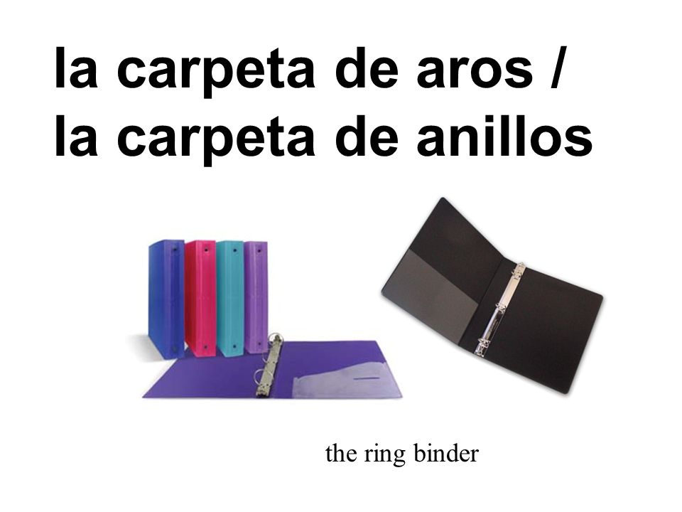 la carpeta the folder
