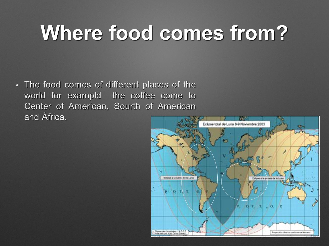 Where food comes from.