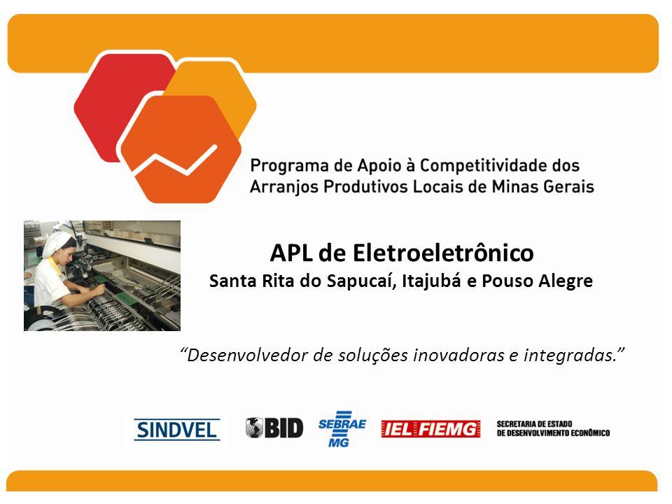 APL de Eletroeletrônico Santa Rita do Sapucaí, Itajubá e Pouso Alegre Desenvolvedor de soluções inovadoras e integradas.