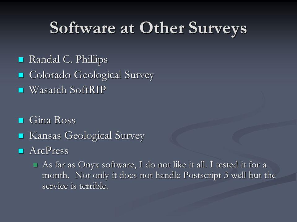 Software at Other Surveys Randal C. Phillips Randal C.