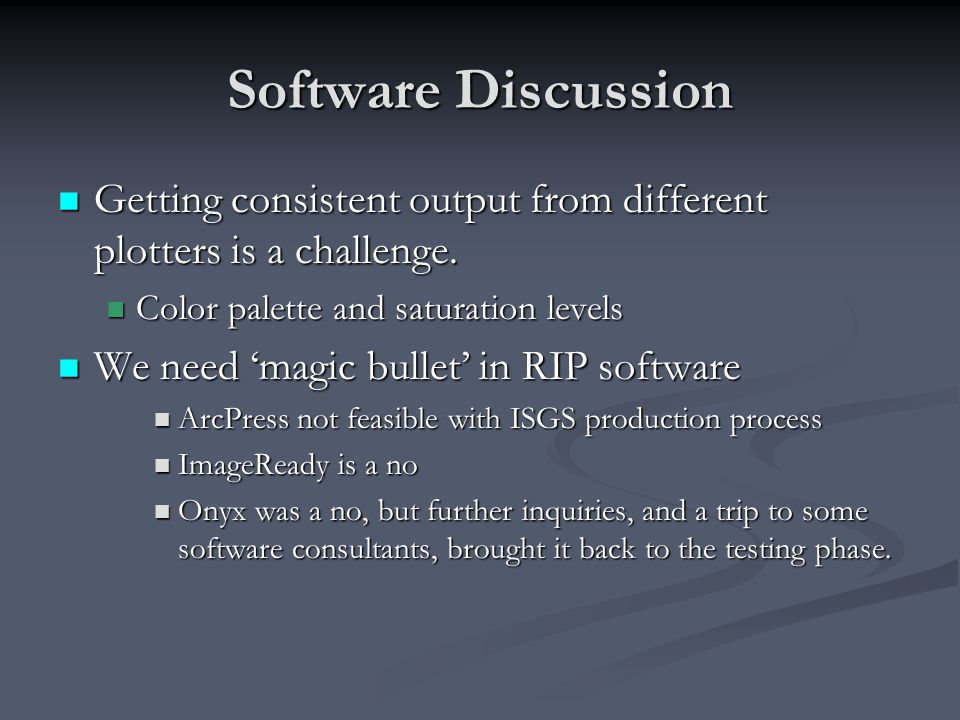 Software Discussion Getting consistent output from different plotters is a challenge.