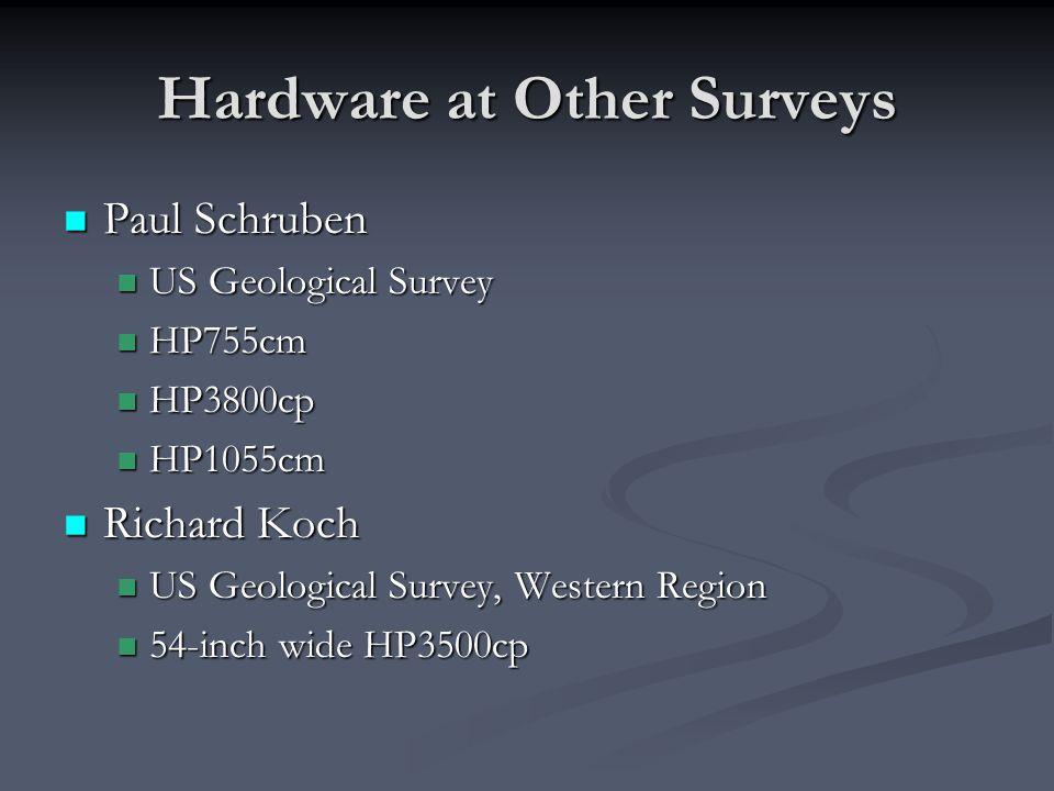 Hardware at Other Surveys Paul Schruben Paul Schruben US Geological Survey US Geological Survey HP755cm HP755cm HP3800cp HP3800cp HP1055cm HP1055cm Ri