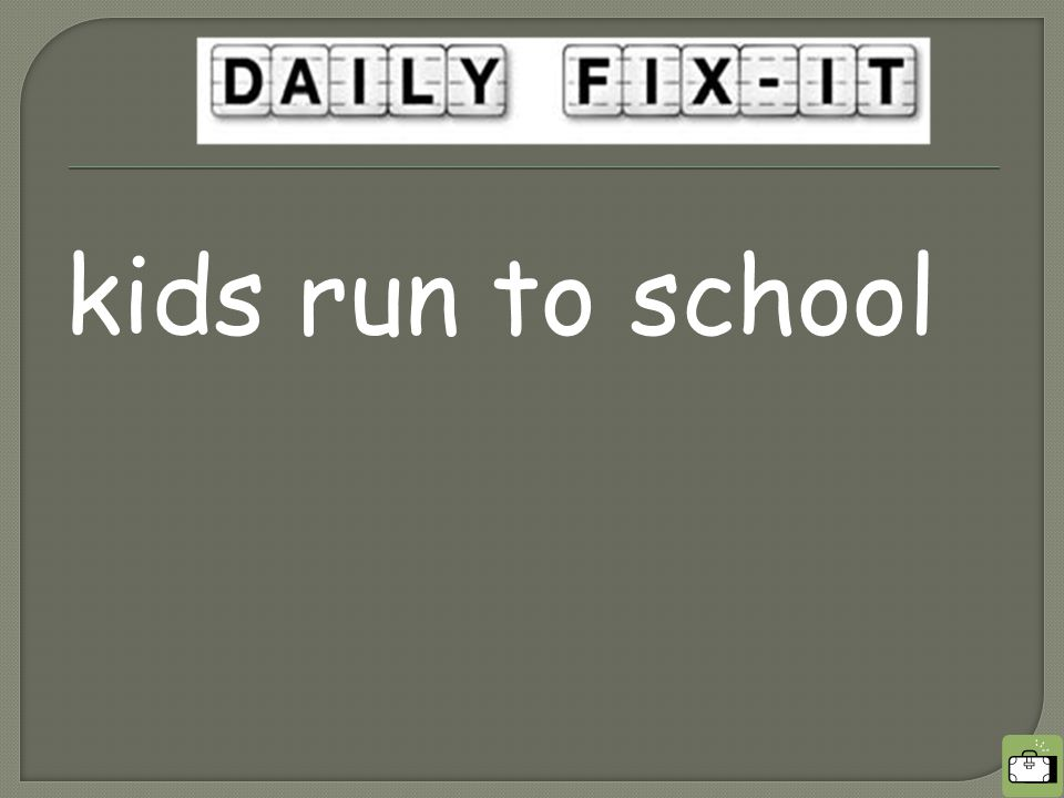 kids run to school
