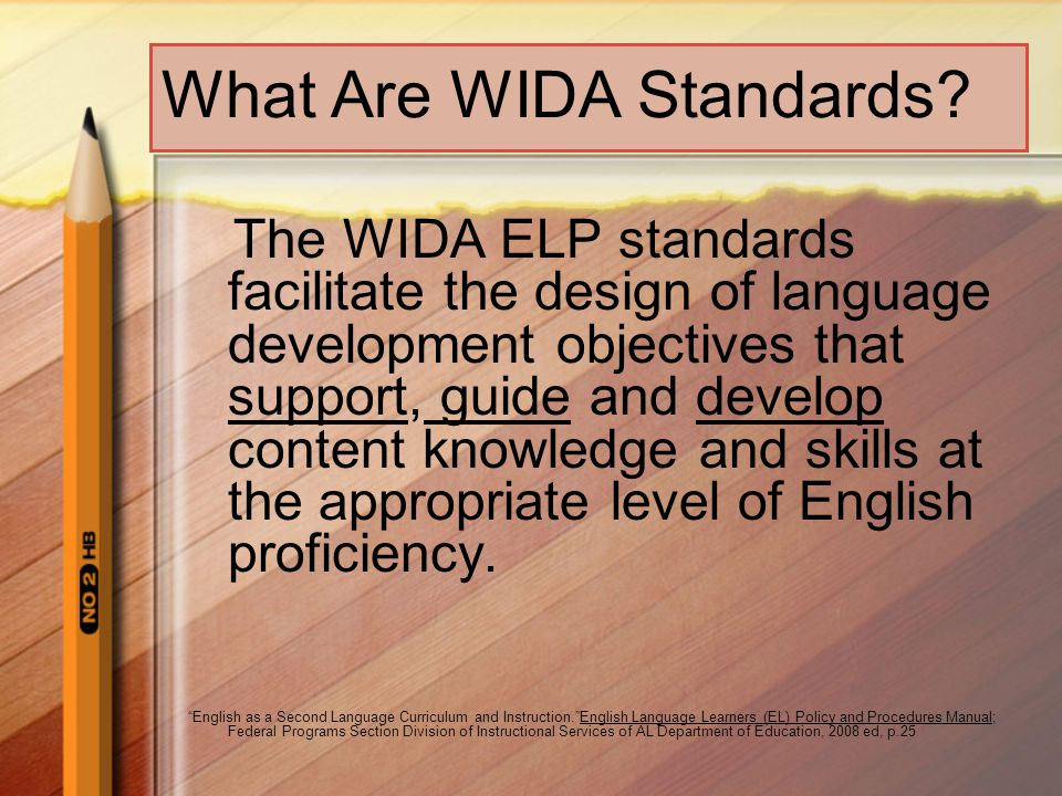 What Are WIDA Standards.