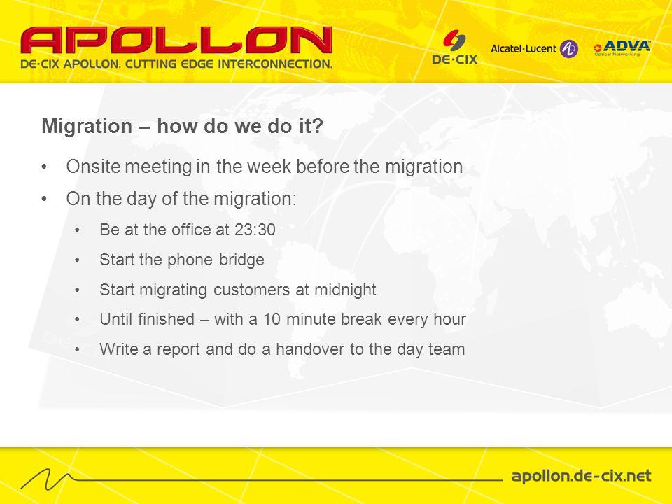 Migration – how do we do it.