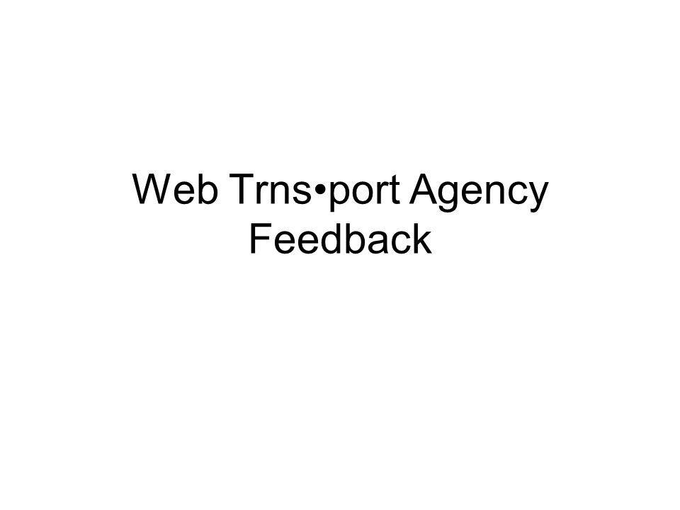 Web Trnsport Agency Feedback