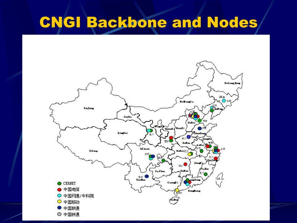 CNGI Backbone and Nodes