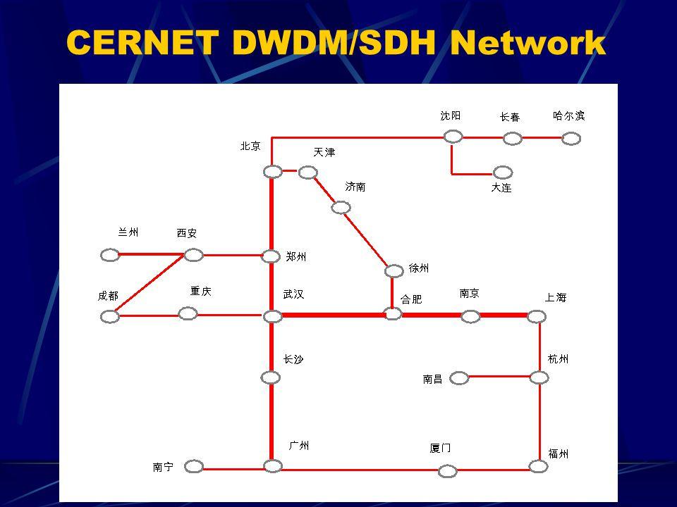 CERNET DWDM/SDH Network