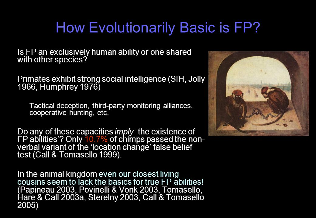 How Evolutionarily Basic is FP.