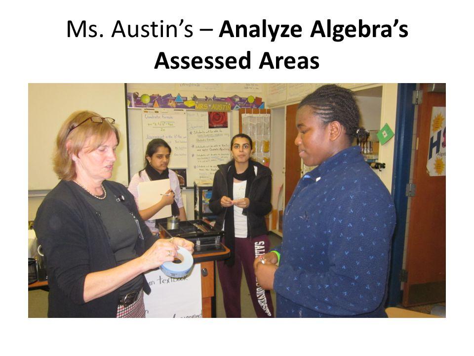 Ms. Austin's – Analyze Algebra's Assessed Areas