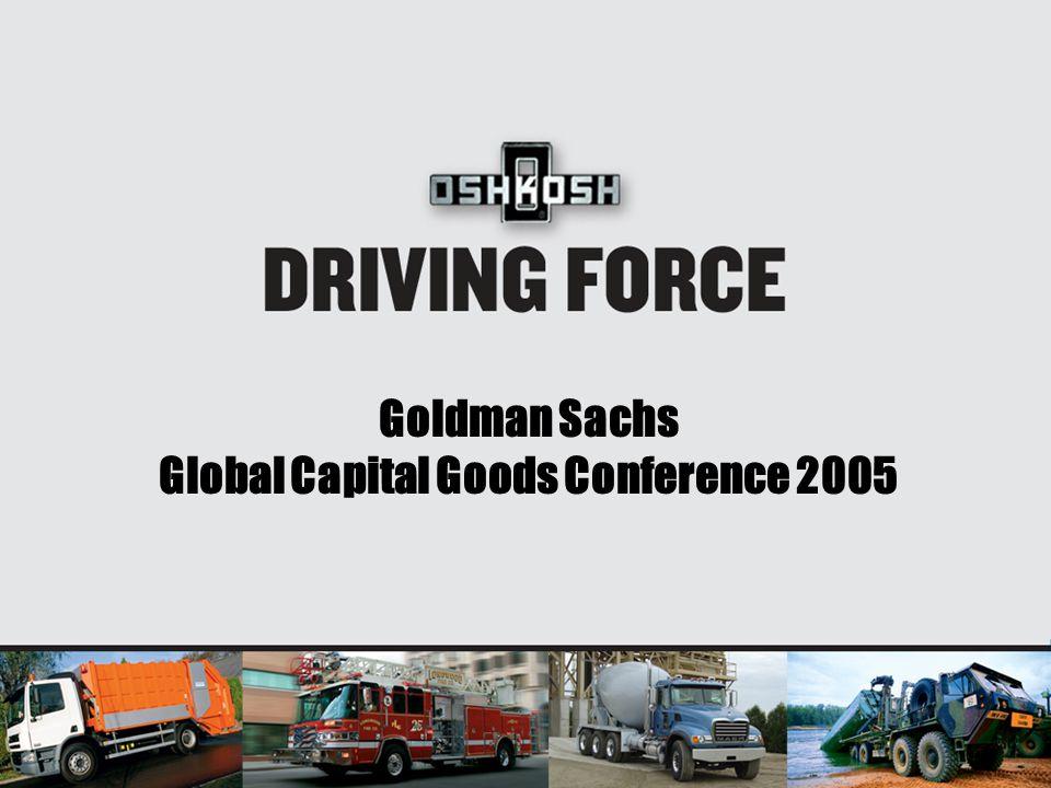 Goldman Sachs Global Capital Goods Conference 2005